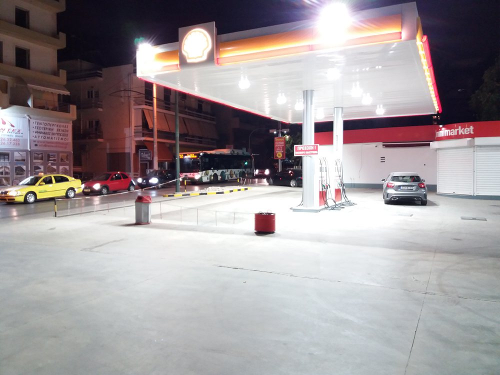 SHELL ALEXANDROPOULOS PETROL STATION ILION Canopy Lighting