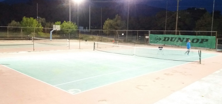 TENNIS COURT THRAKOMAKEDON - Great Height Led Lighting