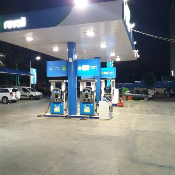 REVOIL KRITIKOS PETROL STATION PATISIA Canopy Lighting