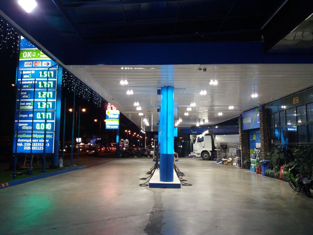 REVOIL KRITIKOS PETROL STATION HAIDARI Canopy Lighting